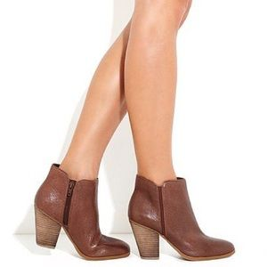 Jessica Simpson Kirblin Leather Ankle Bootie Boot